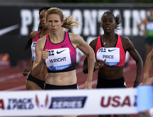 "Phoebe Wright takes a victory lap, while Bernie Montoya comes close at ""Distance Night in Eugene"""