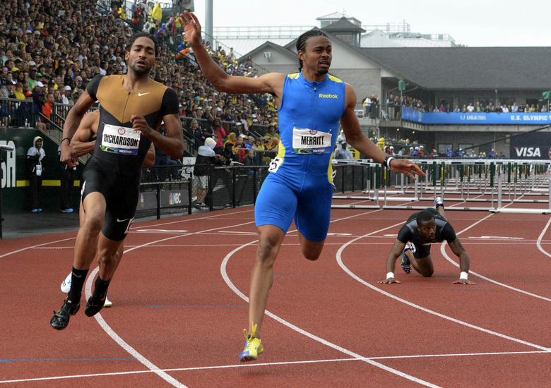 The 4 x 1: Hurdle parity, Gay/Bolt, Bondarenko jumping high and Costner as an XC coach