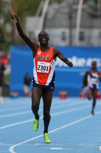 Anthony Rotich anchoring UTEP to men's DMR win.