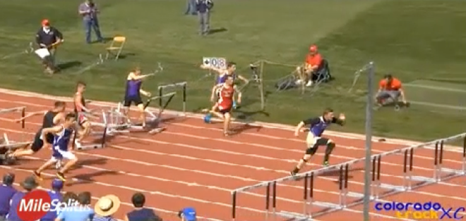 Hurdle Crash at Colorado State Meet