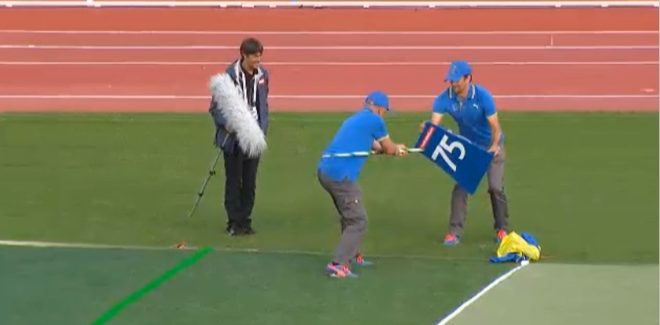 Javelin Thrower Nails 75m Marker at 2014  European Athletics Championships
