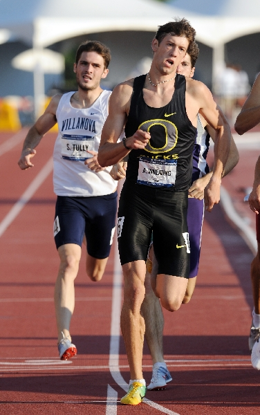 Wheating competing at the 2009 NCAA Championships. (Randy Miyazaki / TrackandFieldPhoto.com)