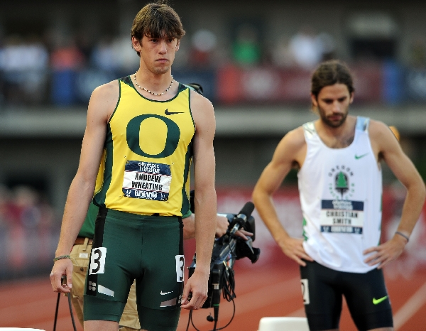 Wheating and Smith before the final. (Randy Miyazaki / TrackandFieldPhoto.com)